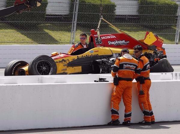 Ryan Hunter-Reay hatte bei seinem Unfall auf dem Pocono Raceway große Glück