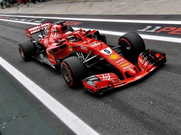 Sebastian Vettel zerstörte im Qualifying in Interlagos die FIA-Waage